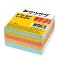 Блок для записей BRAUBERG непроклеенный, куб 9*9*5 см, цветной, 122339