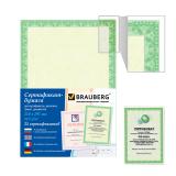 Сертификат-бумага для лазерной печати BRAUBERG А4, 25 листов, 115 г/м, Зеленый интенсив, 122623