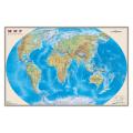 """Карта настенная """"Мир. Физическая карта"""", М-1:25 млн., размер 122х79 см, ламинированная, ОСН1223992"""