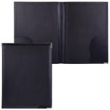 Папка адресная из кожзама без надписи, формат А4, 33х25х2 см, черная, 165