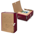 Папка для бумаг архивная, 120 мм, крафт, корешок - бумвинил, 4 х/б завязки