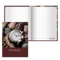 Блокнот BRAUBERG (БРАУБЕРГ), А6, 110-147 мм, 80 л., «Time» («Время»), твердая ламинированная обложка, выборочный лак, клетка