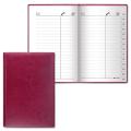 Телефонная книжка, А5, 136-202 мм, 96 л., BRAUBERG (БРАУБЕРГ), ВЫРУБНОЙ АЛФАВИТ, «Imperial» («Империал»), «гладкая кожа», бордовая