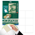 Этикетка самоклеящаяся LOMOND на листе формата А4, 6 этикеток, размер 105-99 мм, белая, 50 л.