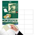 Этикетка самоклеящаяся LOMOND на листе формата А4, 10 этикеток, размер 105-59,4 мм, белая, 50 л.