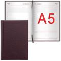 """Ежедневник BRAUBERG недатированный А5 138*213мм """"Favorite"""", под классическую кожу, 160л., бордо, 123833"""