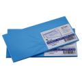 Конверты С65, КОМПЛЕКТ 5шт., отрывная полоса STRIP, голубые, упак. с европодвесом, 114х229мм, 209А.5