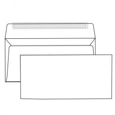 Конверт Е65, комплект 1 шт., отрывная полоса STRIP, белый, 110-220 мм