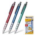 Ручка шариковая автоматическая BRAUBERG Smart Metallic, корпус металлик, 0,7мм, линия 0,35мм, синяя,140665