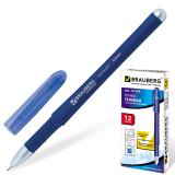 Ручка гелевая BRAUBERG Impulse, игольчатый узел 0,5мм, линия 0,35мм, резиновый упор, синяя, 141182