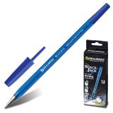 Ручка шариковая BRAUBERG Black Jack, корпус тонированный синий, 0,7мм, линия 0,35мм, синяя, 141296