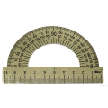 Транспортир 10 см, 180 градусов, металлический, ТС-10