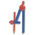 Циркуль ПИФАГОР пластиковый с карандашом, в чехле