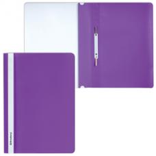 Скоросшиватель пластиковый BRAUBERG, А4, 130/180 мкм, фиолетовый, 220388