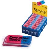 """Резинка стирательная BRAUBERG """"Assistant 80"""", 41*14*8 мм, красно-синяя, в карт дисплее, 221034"""
