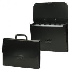 Портфель пластиковый BRAUBERG «Energy» (БРАУБЕРГ «Энерджи»), А4, 256-330 мм, 6 отделений, черный