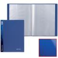 Папка 100 вкладышей BRAUBERG Диагональ, т-синяя, 0,9мм, 221333
