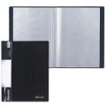 Папка 10 вкладышей BRAUBERG стандарт, черная, 0,5 мм, 221592
