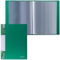 Папка  20 вкладышей BRAUBERG Стандарт, зеленая, 0,6мм, 221593