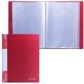 Папка  40 вкладышей BRAUBERG Стандарт, красная, 0,7мм, 221602