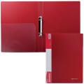 Папка 2 кольца BRAUBERG Стандарт, 25мм, красная, до 120 листов, 0,8мм, 221614