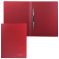 Папка с металлическим скоросшивателем BRAUBERG Стандарт, красная, до 100 листов, 0,6мм, 221632