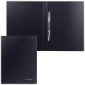 Папка с металлическим скоросшивателем BRAUBERG Стандарт, черная, до 100 листов, 0,6мм, 221634