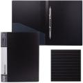 Папка с металлическим скоросшивателем и внутренним карманом BRAUBERG Contract, черная, до 100 лист, 0,7мм,бизнес-класс