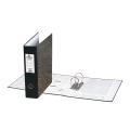 Папка-регистратор BRAUBERG мраморное покрытие, А4 +, содержание, 70мм, чер. корешок, 221987