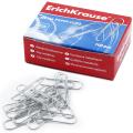Скрепки ERICH KRAUSE, 28 мм, металлические, 100 шт., в картонной коробке