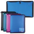 Папка на молнии пластиковая ERICH KRAUSE «Vivid Colors», А4, 300-215 мм, ассорти, 0,5 мм