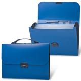 Портфель пластиковый BRAUBERG «Energy» (БРАУБЕРГ «Энерджи»), А4, 256-330 мм, 6 отделений, синий