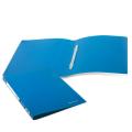 Папка с пластиковым скоросш. BRAUBERG Office, синяя, до 100 листов, 0,5мм, 222644