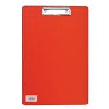 """Доска-планшет BRAUBERG """"Comfort"""" с верхним прижимом А4, 23*35см, картон/ПВХ, РОССИЯ, КРАСНАЯ, 222658"""