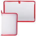 Папка на молнии пластиковая, А4, прозрачная, размер 320-230 мм