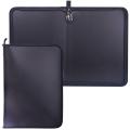 Папка на молнии пластиковая, А4, матовая, черная, размер 320-230 мм