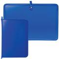 Папка на молнии пластиковая, А4, матовая, синяя, размер 320-230 мм
