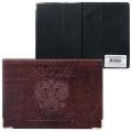 Обложка для паспорта горизонтальная с гербом, ПВХ под кожу, конгревное тиснение, коричневая, ОД 9-01-01