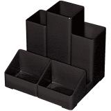Подставка-органайзер BRAUBERG-CONTRACT 5 (БРАУБЕРГ «Контракт 5»), черная