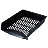 Лоток горизонтальный для бумаг BRAUBERG-SMART, сетчатый, черный, 231002