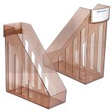 Лоток вертикальный для бумаг BRAUBERG-MAXI, ширина 100 мм, тонированный, 231055