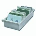 Картотека пластиковая HAN (Германия), А6, открытая, горизонтальная, на 1300 карточек, 148-105 мм, серая