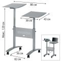 Подставка для проектора и ноутбука NOBO, регулировка высоты (120-86-56 см) (АССО Brands, США)