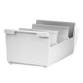 Картотека пластиковая HAN (Германия), А5, открытая, горизонтальная, высокий бортик, на 1000 карточек, 210х148 мм, серая, НА855/0/11