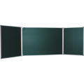 Доска для мела магнитная 3-х элементная (100х150/300 см), 5 рабочих поверхностей, зеленая, BOARDSYS, ТЭ-300М