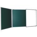 Доска для мела магнитно-маркерная BOARDSYS, 100-150/300 см, 3-элементная, 5 рабочих поверхностей