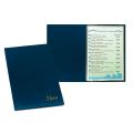 Папка «Меню» с 10 вкладышами, синяя