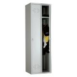Шкаф металлический для одежды ПРАКТИК «LE-21C» (в сборе), двухсекционный, 1830-575-500 мм, 30 кг