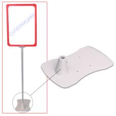 Подставка для сборки напольной стойки под рамку-POS, для трубок 10 мм, пластиковая