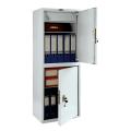 Шкаф металлический для документов ПРАКТИК «SL-125/2Т», 1252-460-340 мм, 33 кг, 2 отделения, сварной